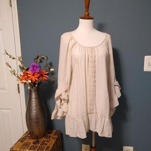 New Directions Ruffled Lace Tunic Size XL